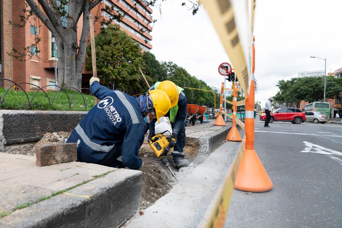 Construcción cuarto carril calle 72